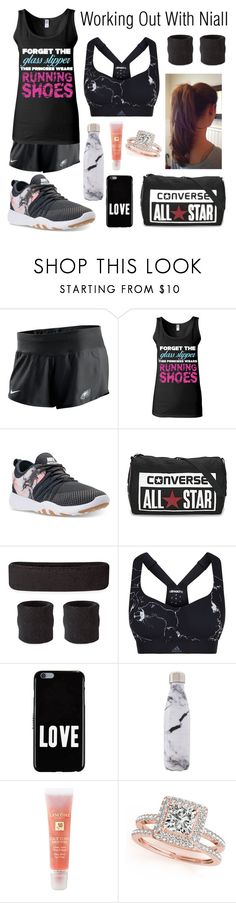 """""""Untitled #34"""" by hazzazgurl ❤ liked on Polyvore featuring NIKE, Converse, adidas, Givenchy, West Elm, Lancôme and Allurez"""