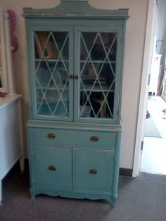 Handpainted Furniture Blog, Shabby Chic Vintage Painted Furniture: vintage shabby chic cabinet teal