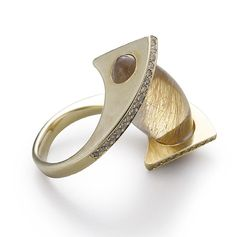 stunning fashion ring with semi precious stone rutilated quartz www.finditforweddings.com