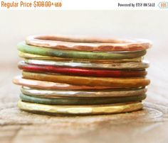 PRESIDENTS DAY SALE Stacking Rings / Thin Stacking by amywaltz