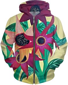 $79.99 Sunflower Hoodie with a design painted by me, Megan Brock.