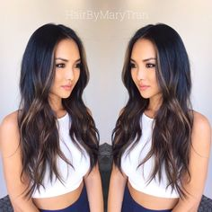 Face framing highlights /balayage natural hair tips hair, hair color asian Asian Hair Highlights, Asian Balayage, Ash Brown Balayage, Hair Color Asian, Black Hair With Highlights, Ombre Hair Color, Balayage Hair Dark Black, Balayage Highlights, Asian Ombre Hair
