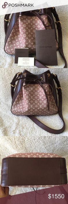 "Louis Vuitton Monogram Idylle Noe Bag Sepia 💯 authentic Louis Vuitton bag. In excellent condition. No scratches, rips, tears. All intact. 11"" W x 10.5"" H. Drop: 19"" If purchased, this item will be sent through Poshmark Concierge for authenticity. Louis Vuitton Bags"