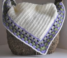 Crocheted baby blanket - I like how she edged it.