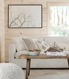Cabin Decor - lookslikewhite Blog - pale wood walls