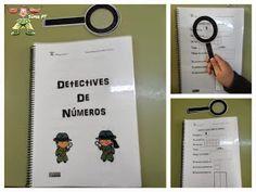 Súper PT: Detectives de Números Detective, Montessori, Primary Maths, Teaching Spanish, Anchor Charts, Classroom Organization, Math Activities, Third Grade, Phonics