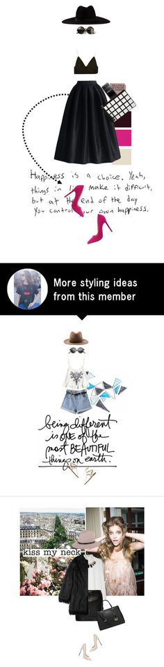 """""""Untitled No. 83"""" by sandra-vargas on Polyvore featuring Filù Hats, T By Alexander Wang, La Diva, Liliana, Dorothy Perkins and The Row"""