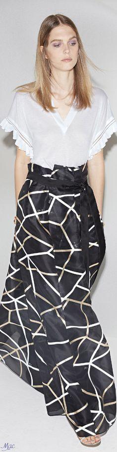 Rosamaria G Frangini Fashion Week 2016, Fashion Trends, Resort 2017, High Fashion, Womens Fashion, Special Dresses, Gowns Of Elegance, Black White Fashion, Nautical Fashion