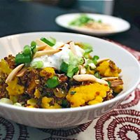 Curried Quinoa with Cauliflower