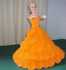 Resultado de imagen para boneca com vestido de eva