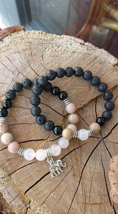 Lávový kámen, onyx, rhodochrozit a chalcedon Pearl Necklace, Beaded Necklace, Beaded Bracelets, Pearls, Stone, Jewelry, String Of Pearls, Beaded Collar, Rock