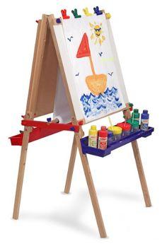 Melissa & Doug Deluxe Standing Art Easel - Dry-Erase Board, Chalkboard, Paper Roller - Toys 4 My Kids