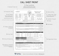 Shot List Advanced  Production Documents Advanced Shot List Is