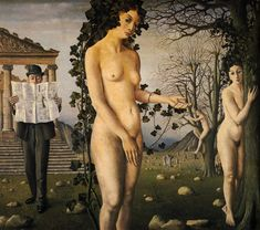 Paul Delvaux - the man in the street