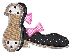 Tap Shoes Applique 5x7 and 6x10 | Ballet-Dance | Machine Embroidery Designs | SWAKembroidery.com JesseKate Designs