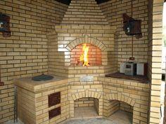 Barbacoa, Barbecue Four A Pizza, Bbq Grill, Grilling, Outdoor Kitchen Design, Stove, Gazebo, Garden Design, Brick