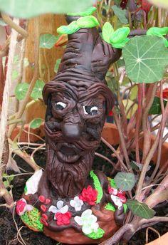 Figur Baumhirte,Waldgeist modelliert aus Polymer Clay,Fairy…