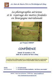 """Conférence """"La photographie aérienne et le repérage des mottes féodales en Bourgogne méridionale"""" le 19 novembre 2016 à Cluny : http://clun.yt/2fFs8Gw"""