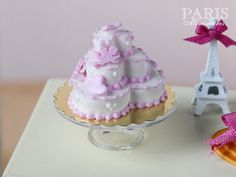 MTO-Three Tiered Heart Shaped Valentine's Cake by ParisMiniatures