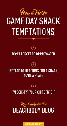 How to Tackle Game Day Snack Temptations High Calorie Snacks, Healthy Snacks, Healthy Recipes, Game Day Snacks, Game Day Food, Beachbody Blog, Football Snacks, Big Game, Weight Loss Goals