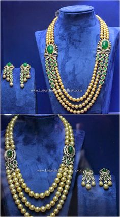 south sea pearls diamond emerald mala