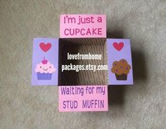 Stud Muffin Care Package Flaps by LoveFromHomePackages on Etsy