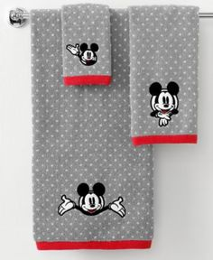 "Disney Bath Towels, Disney Mickey Mouse 16"" x 28"" Hand Towel - Bath Towels - Bed & Bath - Macy's"
