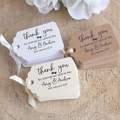 Personalised Wedding Gift Tags Thank You Form The New Mr And Mrs Small  503