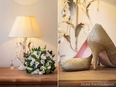 Wedding day bouquet and shoes. www.2tonephotography.co.uk