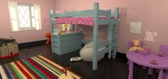 Twin Loft Over Dresser   Maine Bunk Beds