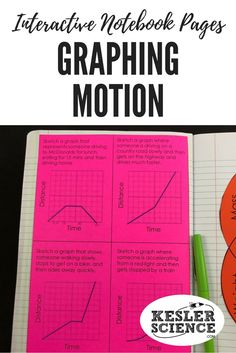 Force and Motion Interactive Notebook Pages Physics High School, Middle School Science, Science Classroom, Teaching Science, Teaching Resources, Science Notebooks, Interactive Notebooks, Physics Lessons, Motion Graphs