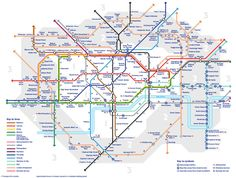 Transport for London has released another alternative version of the Tube map—and it's actually really useful. The London transport manager has created a 'Walk the Tube' map, which shows how long it takes to totter between stations. London Tube Map, London Map, New London, London Travel, London Blog, London 2016, Oyster Card, London Underground, London Transport