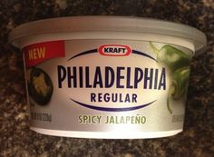 Spicy jalapeño cream cheese. I love the way it makes my tongue tingle!  Thinking of all the recipe possibilities!!!