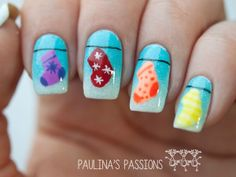 Christmas Nail Art - Colorful Stockings