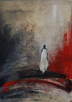 """Saatchi Art Artist: Danka Jaworska; Acrylic Painting """"kom närmare..."""""""