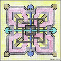 Graph Paper art made by myself Geometric Art, Pixel Art, Grafic Art, Graph Paper Drawings, Celtic Patterns, Art, Zentangle Patterns, Paper Drawing, Paper Art