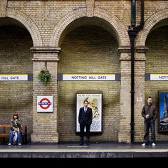Notting Hill Gate, tube station - London.
