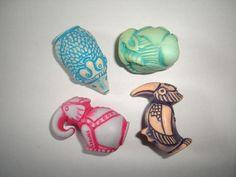 Kinder Surprise Set Stone Animals Gnomes by KinderSurpriseToys