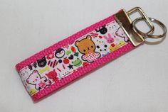 Super Kawaii Animal Keychain Key Fob by RedShirtCreations on Etsy