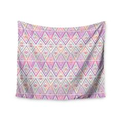 "Pom Graphic Design ""Soft Petal Tribal"" Wall Tapestry"