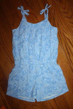 de6c76de7d00 Jumpsuits and Rompers 175528  Nwt Gymboree Butterfly Batik Size 7 Blue  Butterfly Dot Knit Romper -  BUY IT NOW ONLY   36 on eBay!