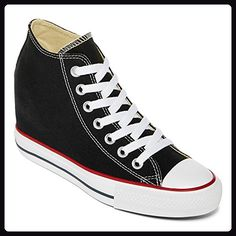 30007d536c6 Converse Women s Chuck Taylor Lux Mid Black Basketball Shoe Get some  fashionable height with our hidden wedge All Star sneakers that are both  comfy and ...