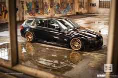 3 series wagon on gold VMR rims