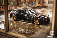3 series wagon on gold VMR rims