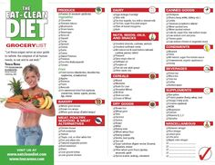 clean eating grocery list pdf - Google Search