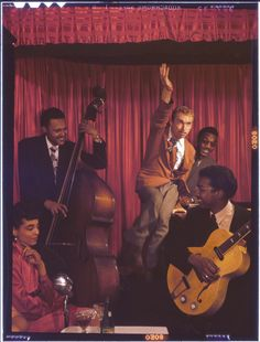 c. 1948:  Jazz clubs and musicians