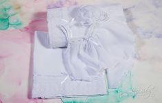 Λαδόπανο σε λευκό & εκρού χρώμα με δαντέλα κορδονέτο και εσώρουχα από μουσελίνα., annassecret, Χειροποιητες μπομπονιερες γαμου, Χειροποιητες μπομπονιερες βαπτισης