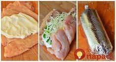 Výborný recept na kuracie rolky pre celú rodinu, len z 4 prísad. Určite skúste, je to výborné a úplne jednoduché! Potrebujeme pre cca. 3-4 osoby: 2 kusy kuracích rezňov prsných 10 dkg kyslej smotany alebo smotanového syra 10 dkg natrúhaného syra Zelená cibuľka Ďalej: soľ a mleté čierne korenie podľa chuti + zmes korenín podľa...