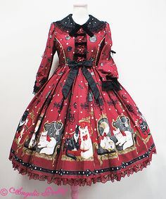 Angelic Pretty - Princess Cat OP in Wine