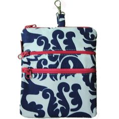 Ame Lulu Malibu Carry All  This perfect 3 zipper caddy is great to hang on your golf bag to keep all your items organized. Perfect as a traveling companion for passport, boarding passes and itinerary holder too. Made in the USA.